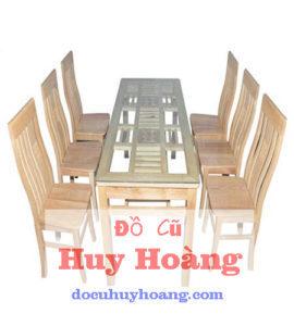 bàn ghế gỗ sồi 6 ghế