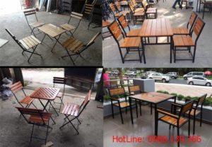 thanh lý bàn ghế gỗ nhà hàng cũ