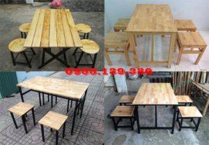 thanh lý bàn ghế gỗ quán ăn