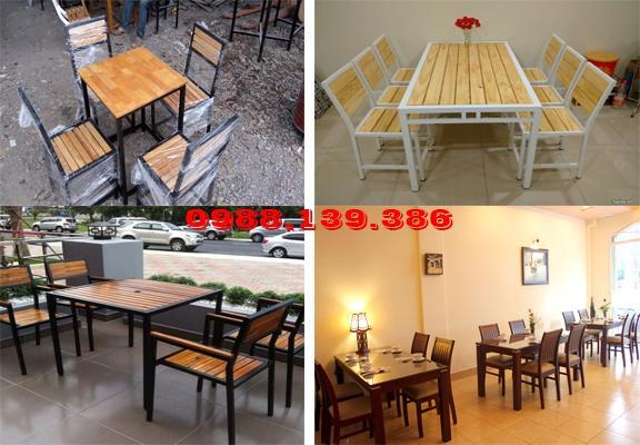 Các mẫu bàn ghế nhà hàng được bán tại Đồ Cũ Huy Hoàng