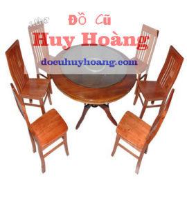 thanh lý bàn ghế tròn 6 ghế cho quán nhậu