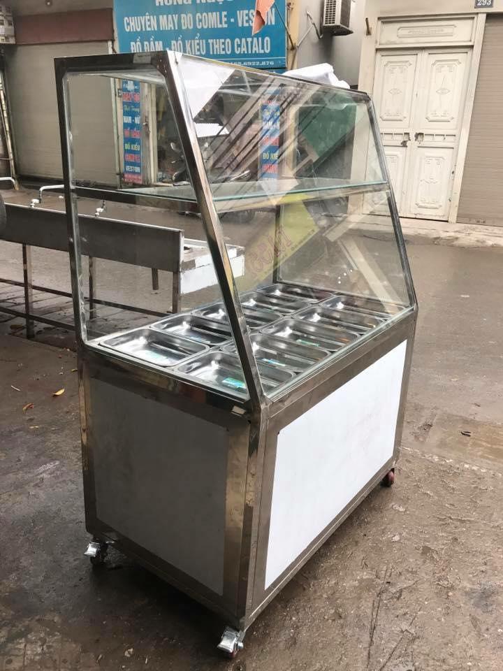 tủ hâm nóng thức ăn sản phẩm rất dễ sử dụng mà tiện lợi trong quán ăn bình dân