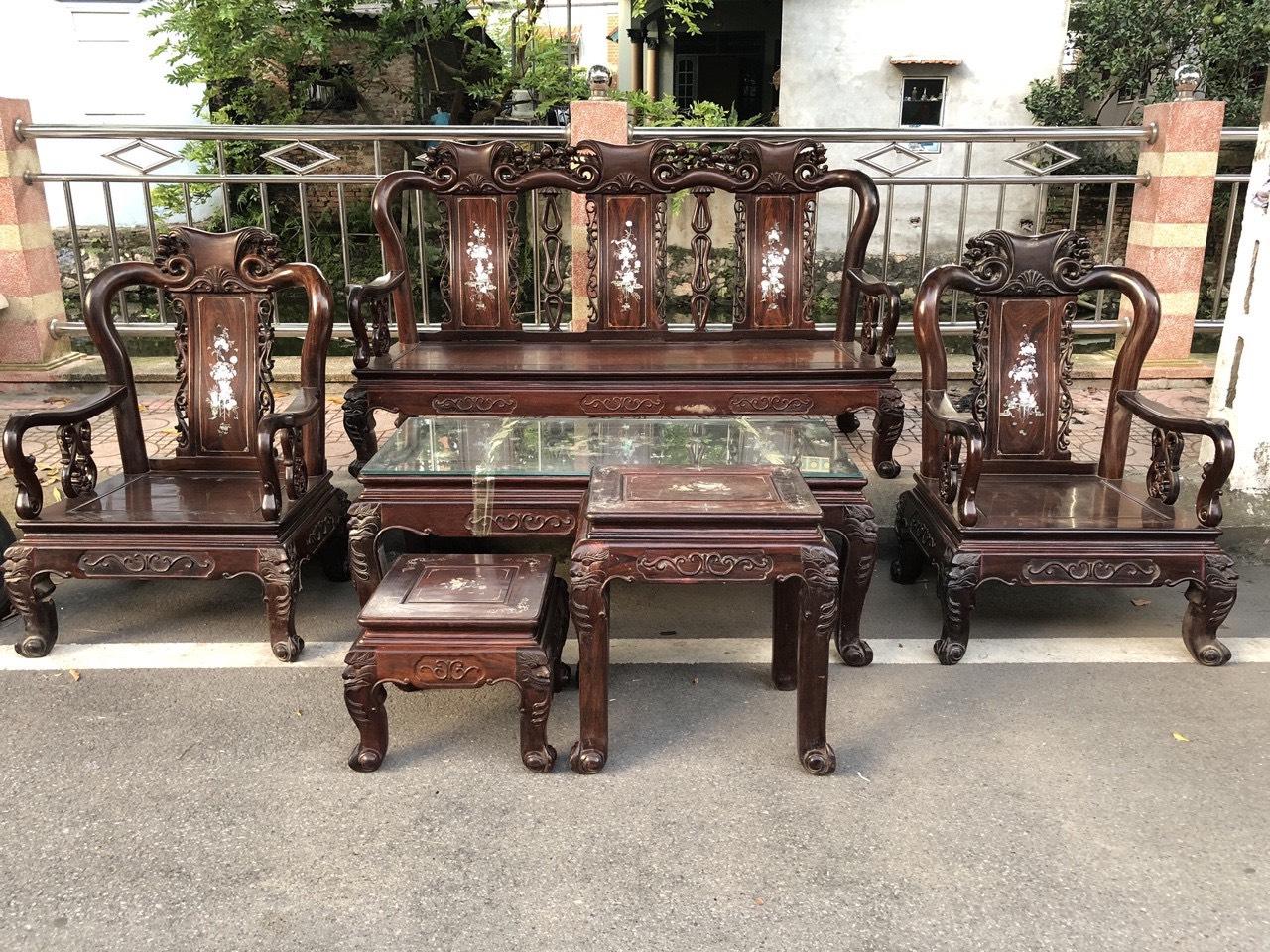 thu mua bàn ghế gỗ gụ cũ tại Hà Nội