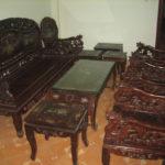 Bán Bộ Bàn Ghế Gỗ Gụ Cũ Phòng Khách Tại Hà Nội