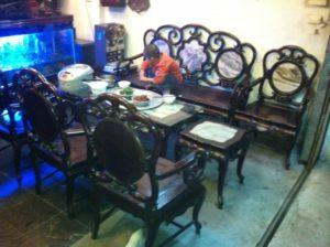 mua bàn ghế gỗ gụ cũ tại hà nội