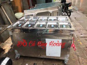 thanh lý tủ hâm nóng thức ăn 10 khay không kính
