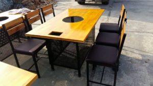 thanh lý bàn ghế lẩu nướng