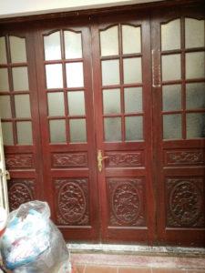 bán cửa gỗ cũ 4 cánh