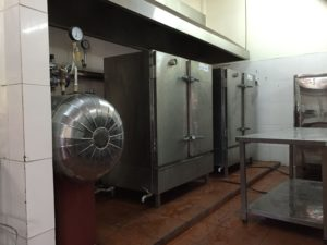 tủ nấu cơm công nghiệp nhà hàng cũ
