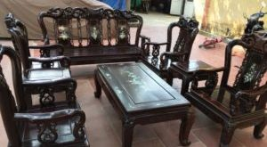 bàn ghế sa lông gỗ cũ